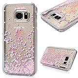 S7 Case-Samsung Galaxy S7 PC Hartes Case Lanveni® Auflage Hardcase Handyschale Schutzhülle Handycover Polychrome Tasche Erleichterung Etui_Muster:Rosa Glitzern Treibsand