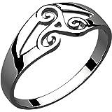 GWG Jewellery Anillos Mujer Regalo Anillo Plata de Ley Trisquel Celta de Espirales Unidas para Mujeres