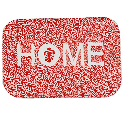 O-C China Red Home Outdoor Indoor Antiskid Absorbent Bedroom Livingroom Bath Mat Bathroom Shower Rugs Doormats