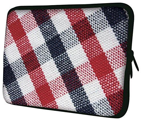Luxburg® Laptop Sleeve EK10763 Schutzhülle, 43 cm (17 Zoll), Blue, Red and White Plaid, Stück: 1