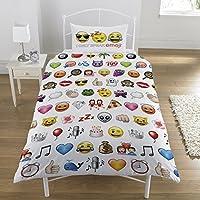 Emoji Multi Single Duvet Set, Polyester-Cotton,