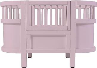 Sebra Puppenbett aus Holz mit abnehmbaren Seiten, 49x44x35 cm, in pastell-rosa (ab 3 Jahren)