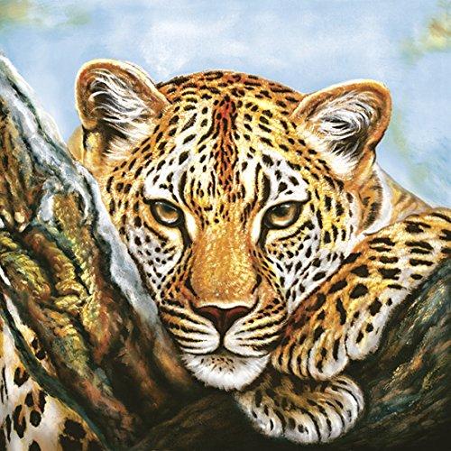 Servietten Napkins 33x33cm 20 Stück Packg. Serviettentechnik Afrika Leopard Tiere Loepard Look (Leopard Stück Ein)