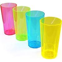 EVENT LIGHTS 20 Grands gobelets Fluo 250 ML – Gobelets UV en Plastique réutilisables - Verres UV réactifs à la lumière…