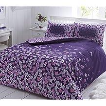 Pieridae Scattered morado de edredón, funda de almohada, cama individual doble King size, algodón poliéster, Morado, king size