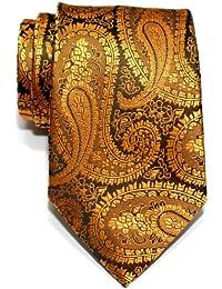Retreez Paisley Art Pattern Woven Microfiber Men's Tie Necktie - Various Colors