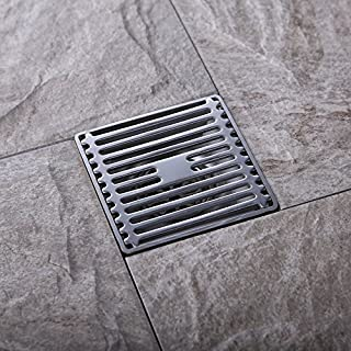 Artbath Square Shower Floor Drain SUS304 Stainless Steel Wet Room Drain with Removable Floor Drain Grate, Brushed Finish 100x100mm