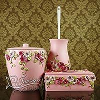 XAH@ Set di stanza da bagno di bagno moderno europeo di resina in polvere tre romantico Manor