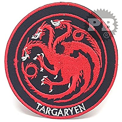 #848 Game of Thrones House Targaryen Iron Sew on Embroidered Patch