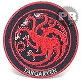 Embrologos #848- Toppa ricamata, Il trono di spade, stemma di Casa Targaryen, termoadesiva o da cucire