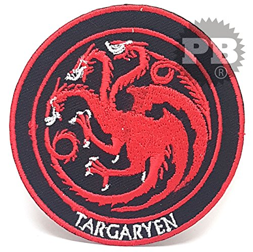 Aufnäher, Bügelbild, Bügel-Applikation gestickt, #848 Game of Thrones Haus Targaryen (Gel Gestickt)