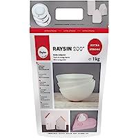Rayher 3699000 Polvere di Ceramica Raysin 200, Polvere Di Gesso 1 Kg da Colare, Asciuga All'Aria, Inodore, per Uso…