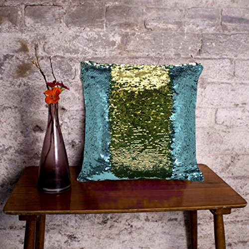 Casemantra™ Stylish Sequin Mermaid Throw Pillow Cover with Magical Color Changing Reversible...