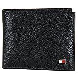 Tommy Hilfiger black Men's Leather Bi-fold Wallet