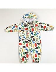3colors 4 tamaños Siamés niños Raincoat niños y niñas Niño niño Poncho de dibujos animados (Big Hat Evaes) ( Color : Amarillo , Tamaño : XL )