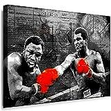 Boikal SP1-1 Bild Leinwandbild 40 x 30 cm Wandbild fertig geramt Boxlegende Boxer Muhammad Ali