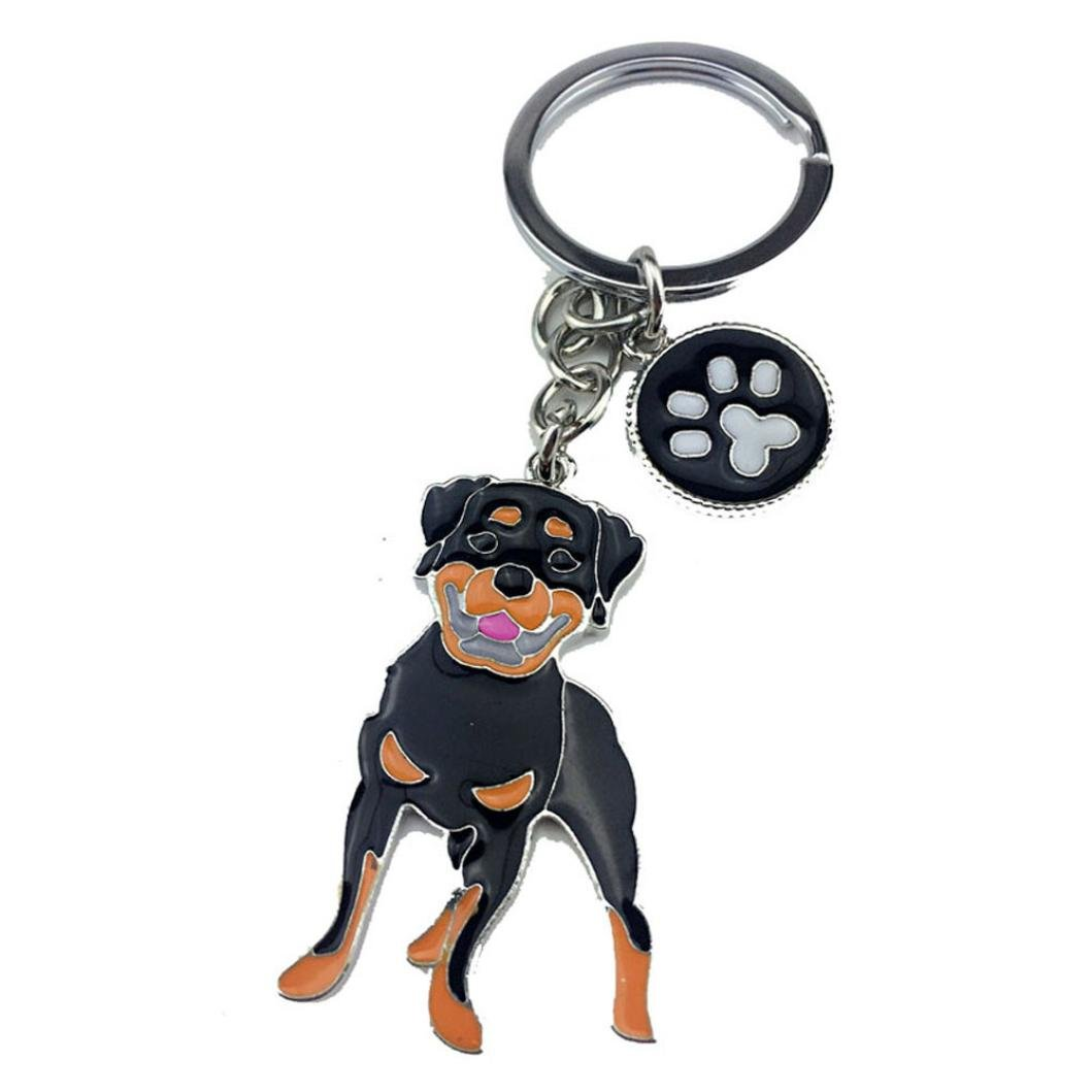 SOMESUN Pet Dog Lovely Jewelry Pendants Rottweiler Dogs Tag Disc Pet ID Disk Enamel Accessories Collar Necklace Pendant