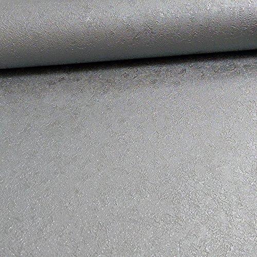 Grandeco Pergamena Uni Muster Glitzer Motiv Texturiert Metallische Tapeten - Silber A14703