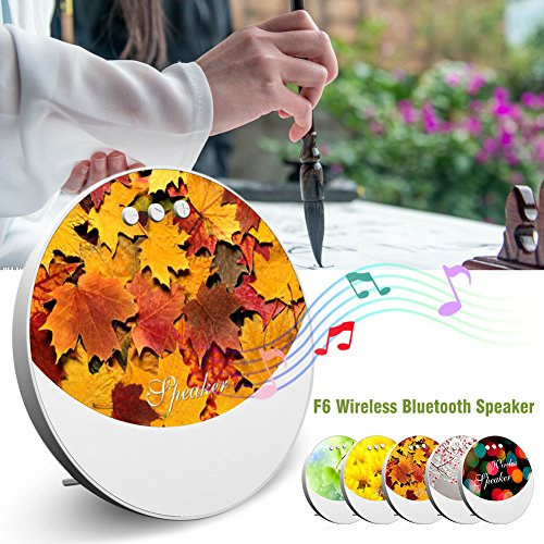 Portable Indoor-outdoor-lautsprecher (F6 Wireless Bluetooth Lautsprecher Mini Portable Outdoor Bunte Lichter (Autumn))