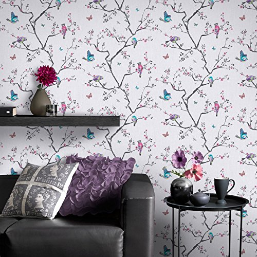 fresco-great-value-mai-oriental-birds-and-flowers-soft-lilac-wallpaper