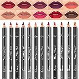 Pudaier 12 Farbe Wasserdicht Lipliner Lip Liner Pencil Set Nicht Verblassen Lippenstift Pencil Matte Lip Pencil Lip Makeup Set