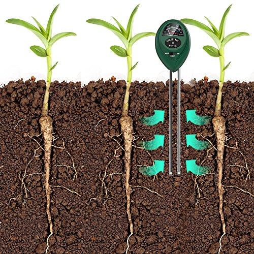 Plant Soil Tester Kit for Garden Farm Yard Lawn etc. TIFANTI 3-in-1 Soil Tester Moisture Meter Light and PH acidity Tester