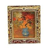 Hilai Golden Plastic Frame Flower oil painting 1