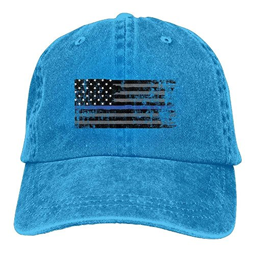 ac7700bec885 WYICPLO 2019 Funny Hip Hop American Thin Blue Line Flag Unisex Adult Denim  Dad Baseball Hat