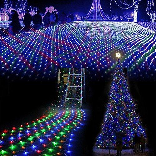 WYBAN 3M x 2M Multicolore 200 LEDs Illuminazione per Interno / esterno Stringa Luci, Rete di luci a LED perfetto per fata nozze Luci della 、partito、parco、giardini eccetera