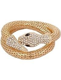 Styles Creation Designer, Stylish Gold Snake Bracelet For Men & Women (ARTFLJWL78)