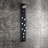 Jaaz Clyde ABS Plastic with 18 Silicon Rubber Nozzles Shower Panel, (Black, OTI1)