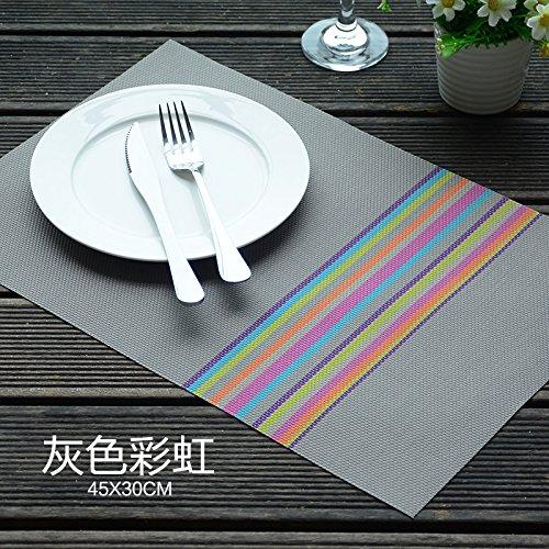 Tovagliette Potholder PVC food-hot anti scivolo tappetino tappetini creativo pasto piatto, 6 Gray