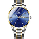 OLMECA Men's Luxury Fashion Dress Hot Watch Quartz Watches Stainless Steel Calendar Date Week Watch Waterproof Wrist Watch 87