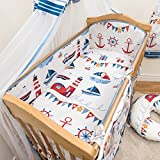 3 Pcs Nursery Bedding Set , All-round Bumper (Fits Cot Bed 140x70 cm, Pattern 16