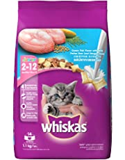 Whiskas Kitten (2-12 months) Dry Cat Food, Ocean Fish, 1.1kg Pack