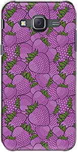 The Racoon Grip printed designer hard back mobile phone case cover for Samsung Galaxy J5. (strawberry)