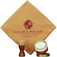 Langer & Messmer Kit di manutenzione e pulizia per scarpe con 3 parti: crema di alta qualità, spazzola per crogioli di…