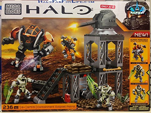 Bloks Halo Mega Containment (Mega Bloks Halo Exclusive Set #97515 Containment Outpost Patrol)
