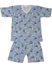 Dazoriginal Pijamas para niños Chicos Pijama mangas cortas 2 - 9 anos Pijama dos piezas 100% algodón pijamas niño verano dos conjuntos Pijama corto Azul Oso