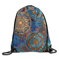 NiPapack Flower Pattern Vintage Ladies Drawstring Bags Bundle Pack Shoulder Bags
