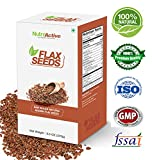 #9: NutroActive Flax Seeds 270g, Natural, Whole, Raw Alsi Seeds