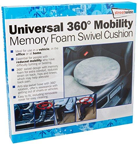Drehkissen SWSV2 aus Memory Foam von Streetwize, 4,5 cm