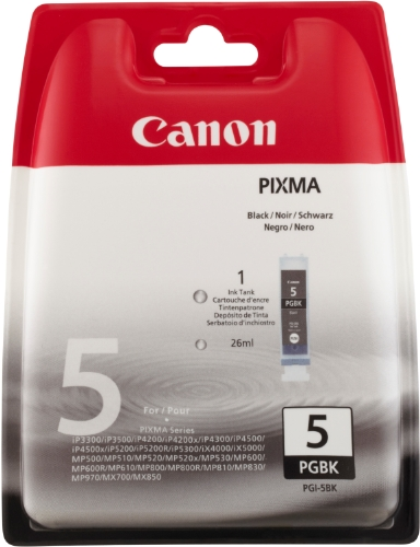 Canon PGI-5 BK Tintenpatrone 26ml, schwarz