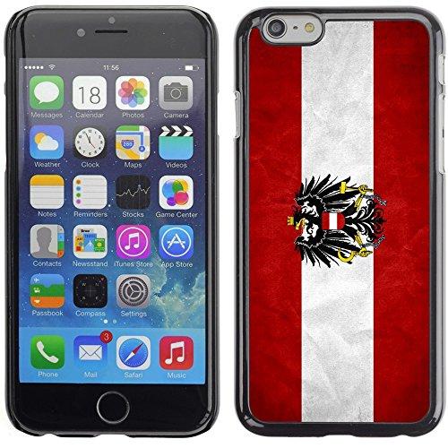 Graphic4You Vintage Uralt Flagge Von Österreich Österreichisch Design Harte Hülle Case Tasche Schutzhülle für Apple iPhone 6 Plus / 6S Plus