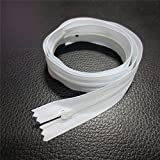 Generic 100cm : 5pcs white Nylon Zippers Tailor Sewing Tools for Home Textile/sleeping bag/quilt cover zipper zip 100cm 150cm