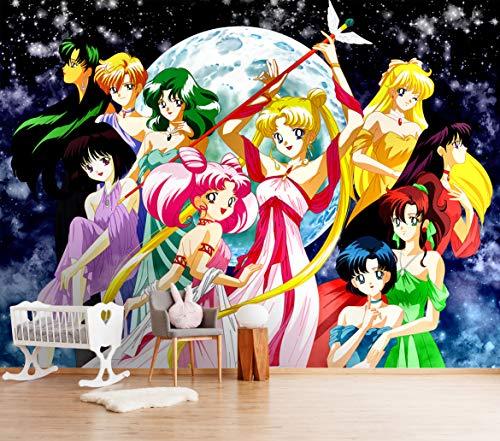 3D Sailor Moon 262 Japan Anime Tapeten Drucken Spiel Karikatur Cosplay Wandgemälde Selbstklebend Tapete MXY WALLPAPER DE Wendy (gewebt Papier (Notwendigkeit Leim), 【123