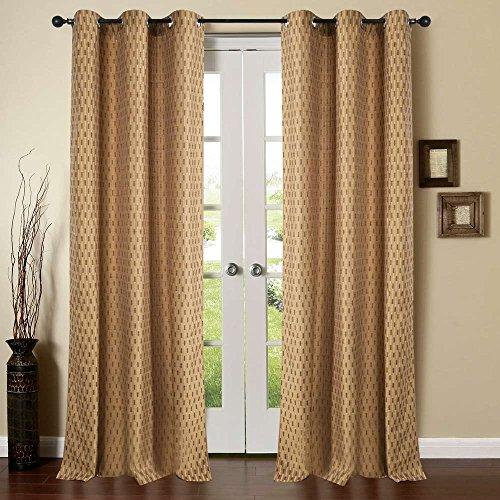 Deco Essential Curtain Tonal Stripe Mud Brown 7.5 ft