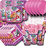 Paw-Patrol-Pink-Party-Pack-For-16-Plates-Cups-Napkins-Balloons-and-Tablecovers-by-Signature-Balloons