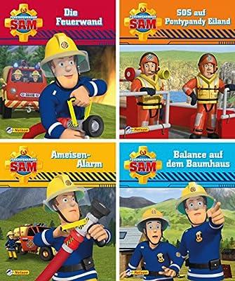 Nelson Mini-Bücher: 4er Feuerwehrmann Sam 9-12