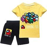 JDSWAN Unisex Niños Chándal de Verano Conjunto Impresión de 'Among US' Camiseta de Manga Corta y Pantalones Cortos 2 Piezas S